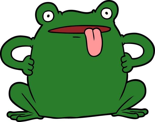 cartoon toad vector art illustration