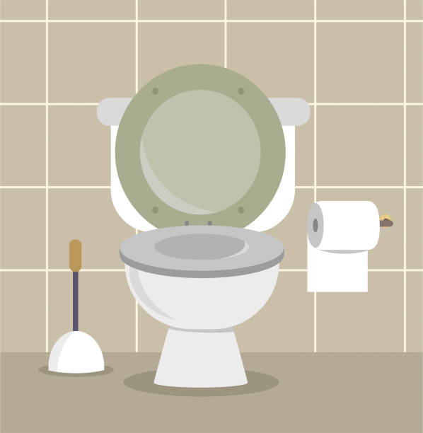 cartoon toilet illustration toilet flushing toilet stock illustrations