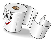 Cartoon Toilet Paper