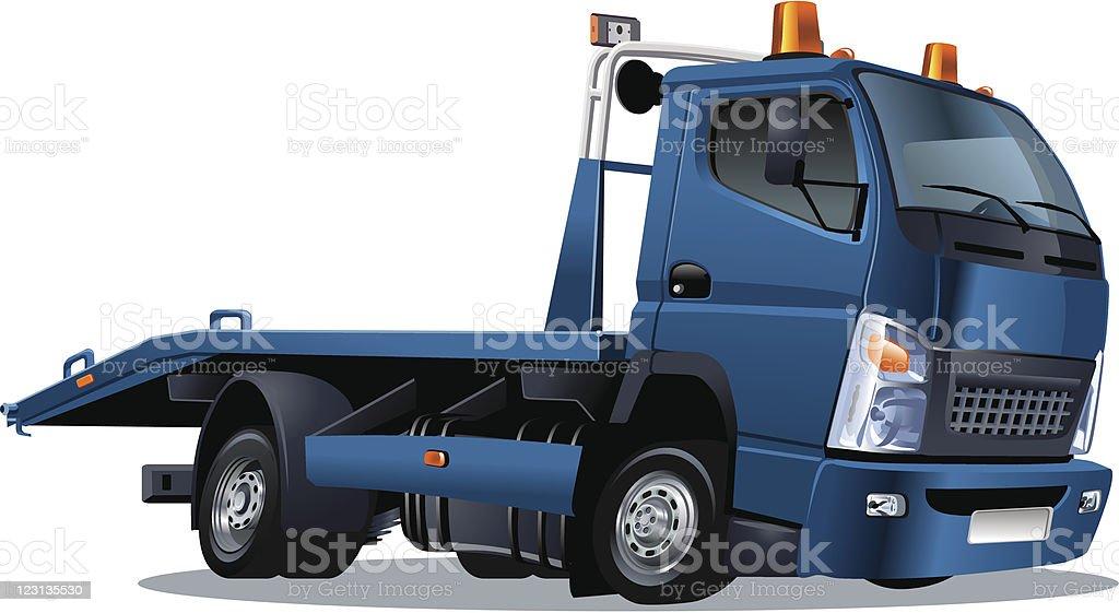 cartoon tow truck royalty-free stock vector art