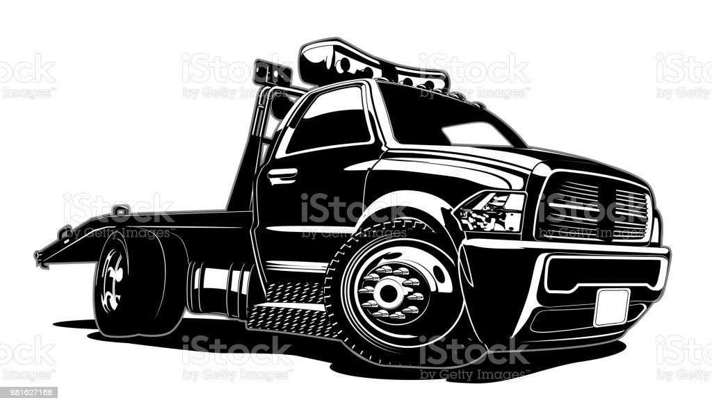 royalty free tow truck clip art vector images illustrations istock rh istockphoto com tow truck clip art vector tow truck logo clip art