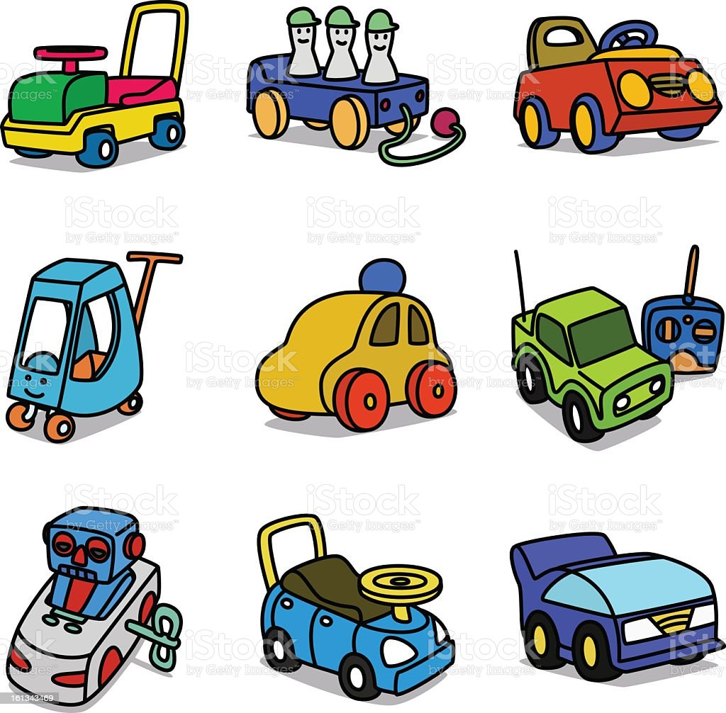 Line Art Cartoon Toys Vector : Cartoon toy cars stock vector art more images of black