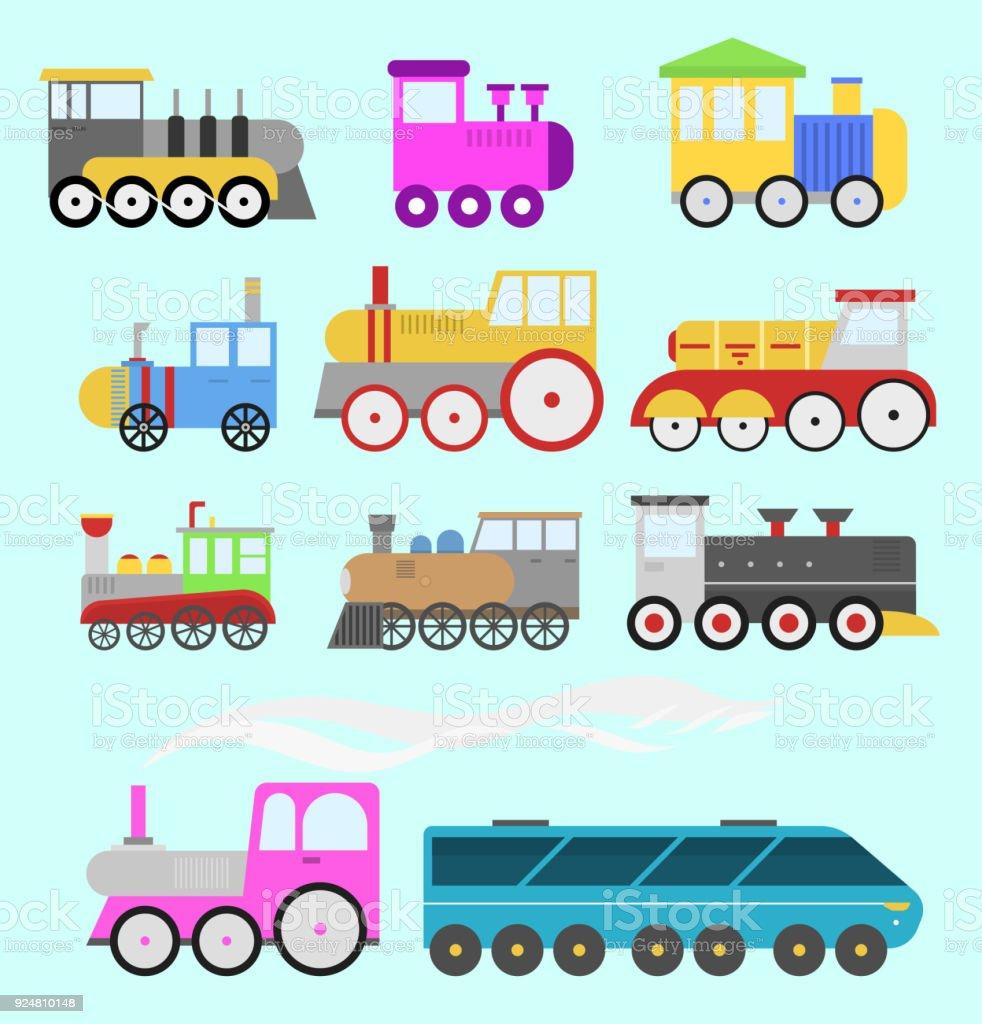 Juguete Ferrocarril Vector Dibujos Ilustración De Y Animados Tren 0nwkPO8