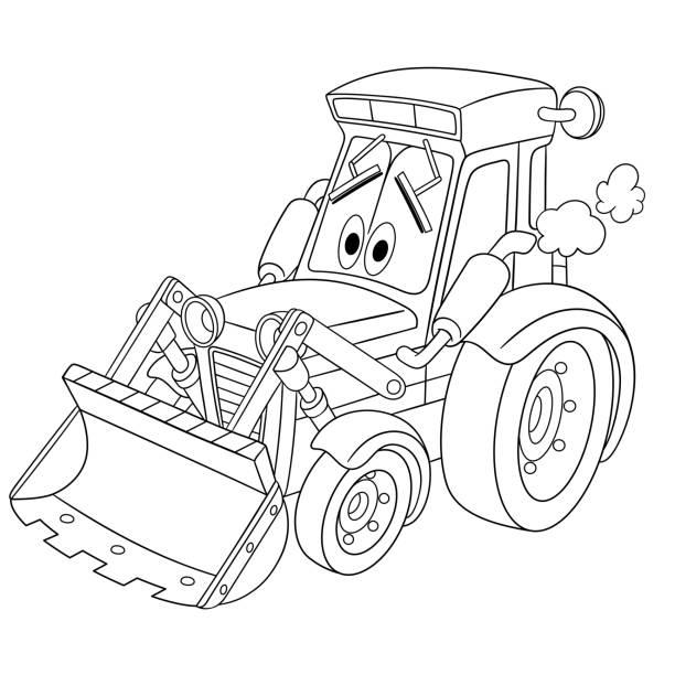 tractor cartoon illustrations royaltyfree vector