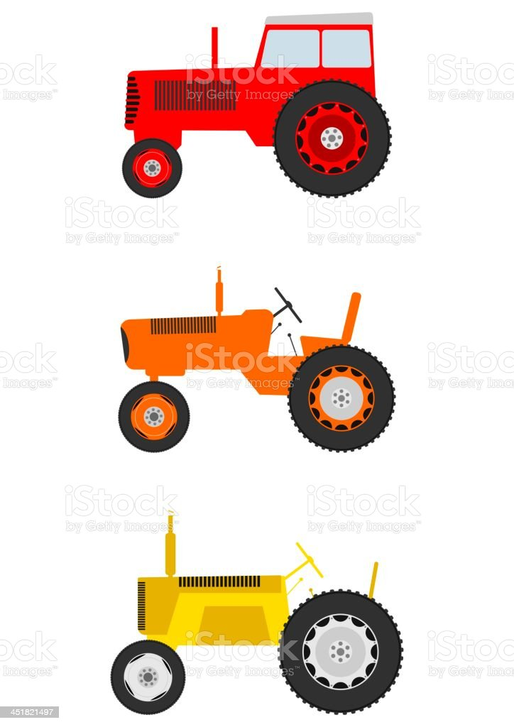Cartoon tractor royalty-free cartoon tractor stock vector art & more images of agricultural machinery