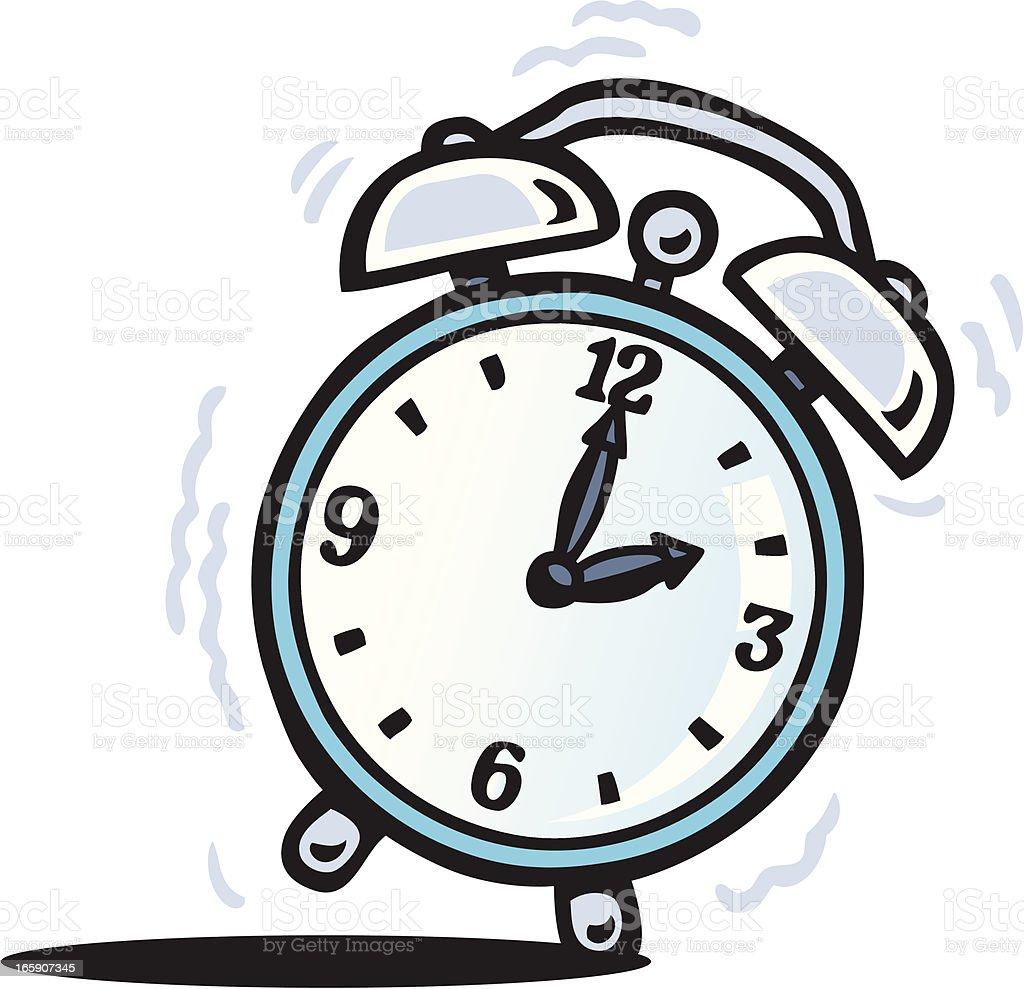 A Cartoon Traditional Style Alarm Clock Going Off Stock Vector Art