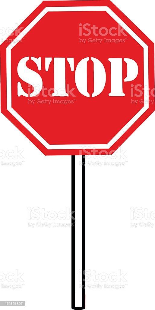 Favori Dessin Animé Panneau De Signalisation Stop Stock Vecteur Libres de  AH65