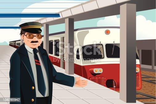 Train Conductor Stock Illustrations – 906 Train Conductor Stock  Illustrations, Vectors & Clipart - Dreamstime