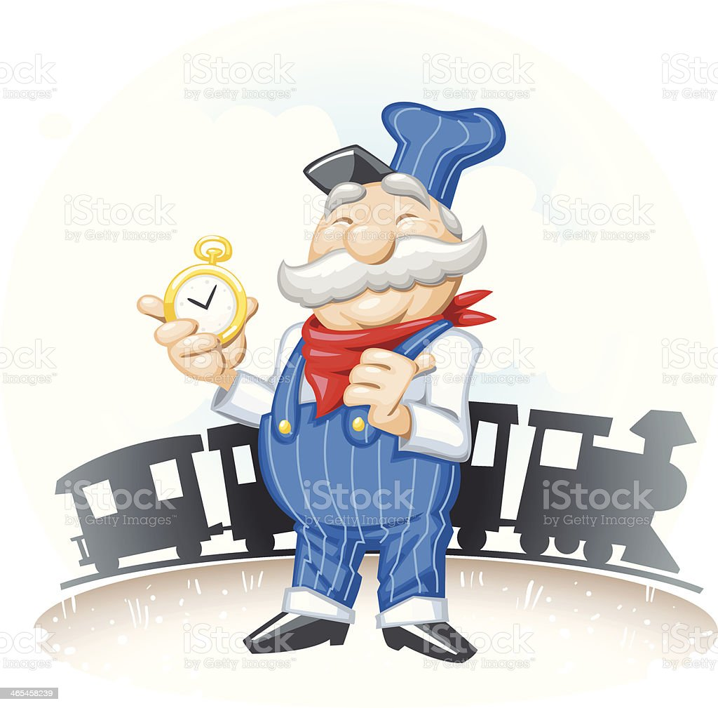 royalty free train conductor clip art vector images illustrations rh istockphoto com conductor hat clipart music conductor clipart