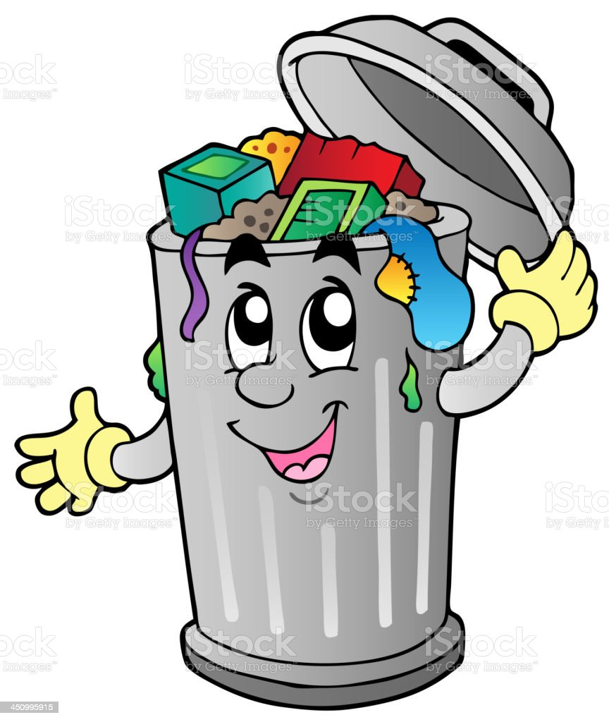 cartoon trash can stock vector art more images of anthropomorphic rh istockphoto com Laughing Smiley Face Clip Art Thumbs Up Smiley Face Clip Art