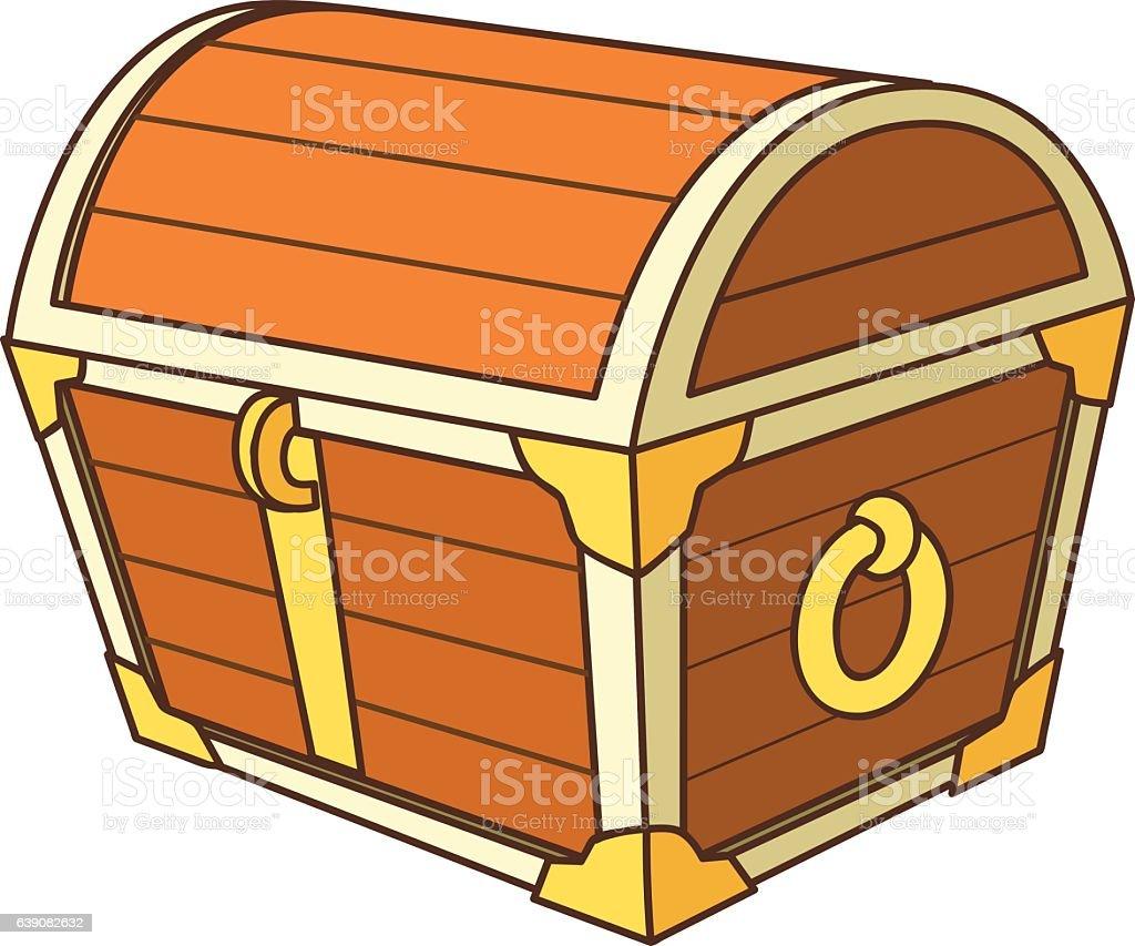cartoon treasure chest stock vector art more images of ancient rh istockphoto com treasure chest vector clip art treasure chest vector silhouette
