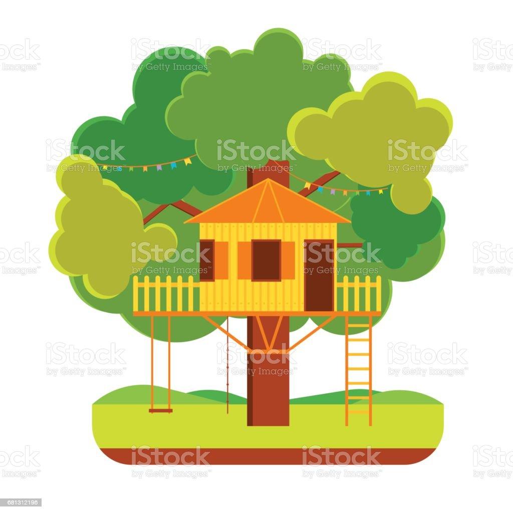 Cartoon Tree House. Vector