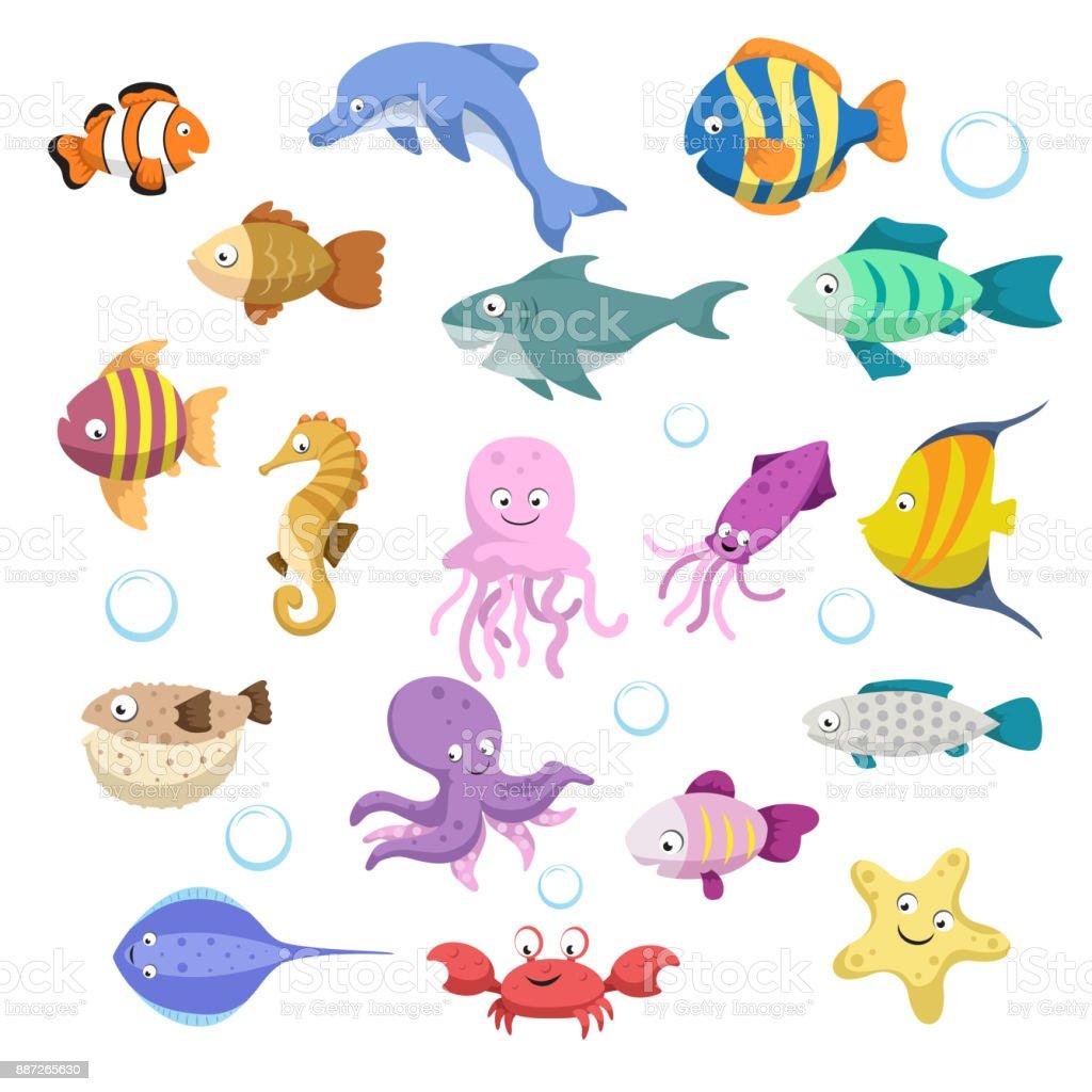 Vetores De Desenho Moderno De Corais Coloridos Animais Grande