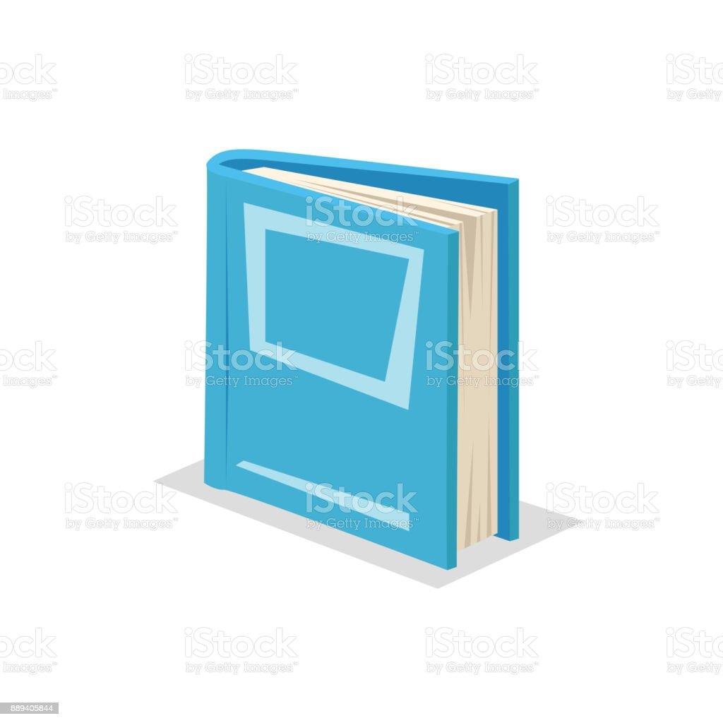 Dessin Anime Decoration Branchee Debout Bleu Livre Ferme Symbole De Bibliotheque Et De Leducation Scolaire Illustration Vectorielle Vecteurs Libres De