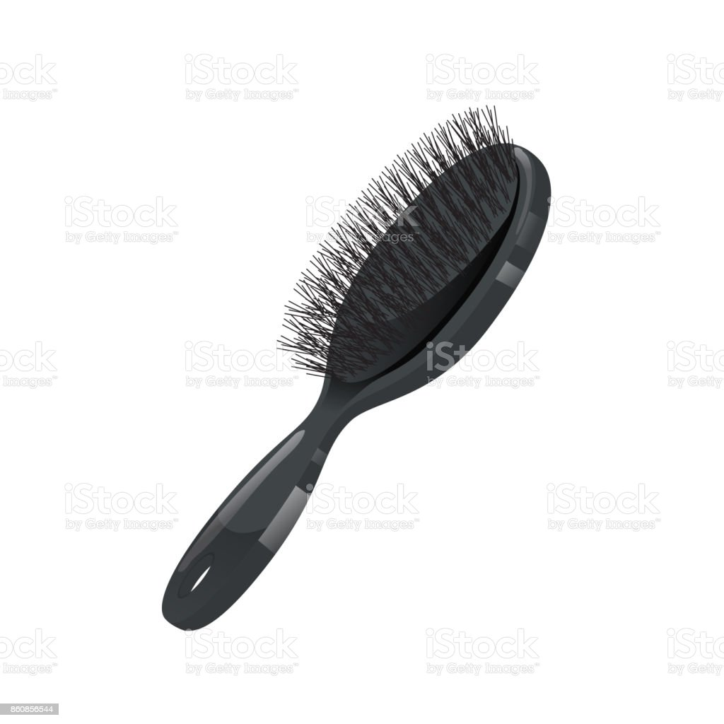 how to clean a plastic bristle hair brush