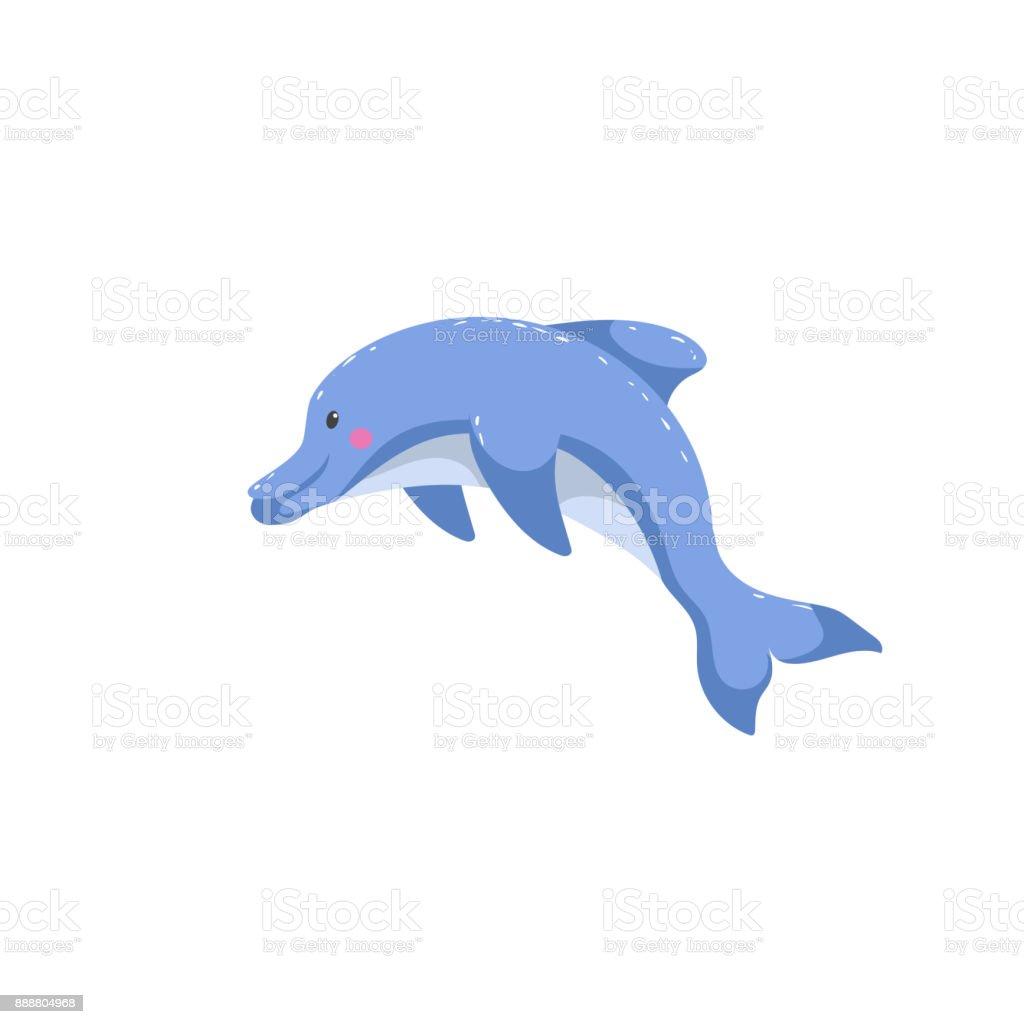 漫画トレンディなスタイルのイルカがジャンプしますフレンドリーな子供