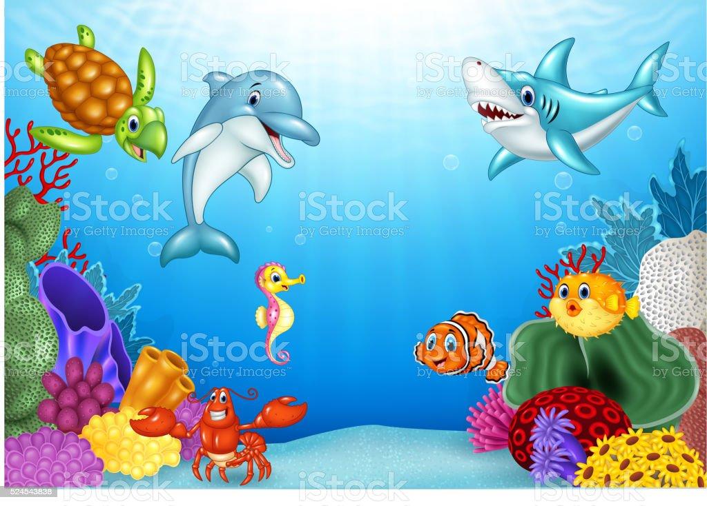 подводный мир мультяшная картинка