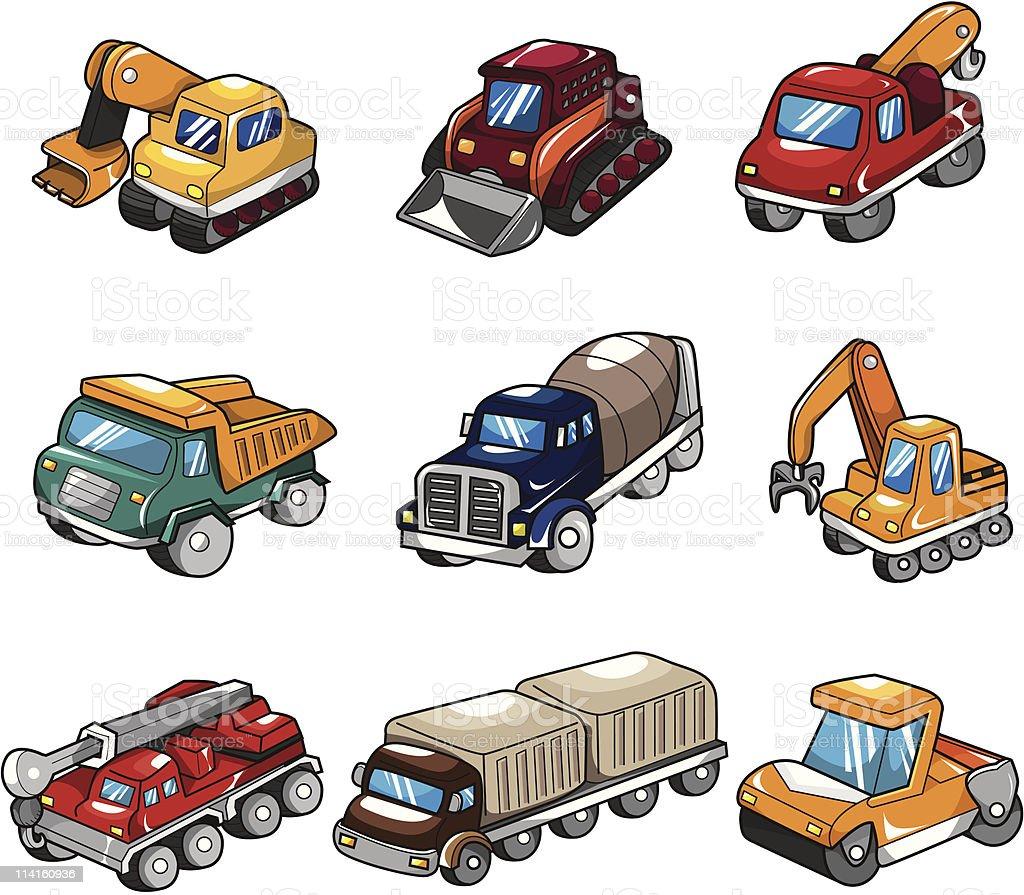 Ilustración de Icono De Dibujos Animados De Camiones y más banco de ...