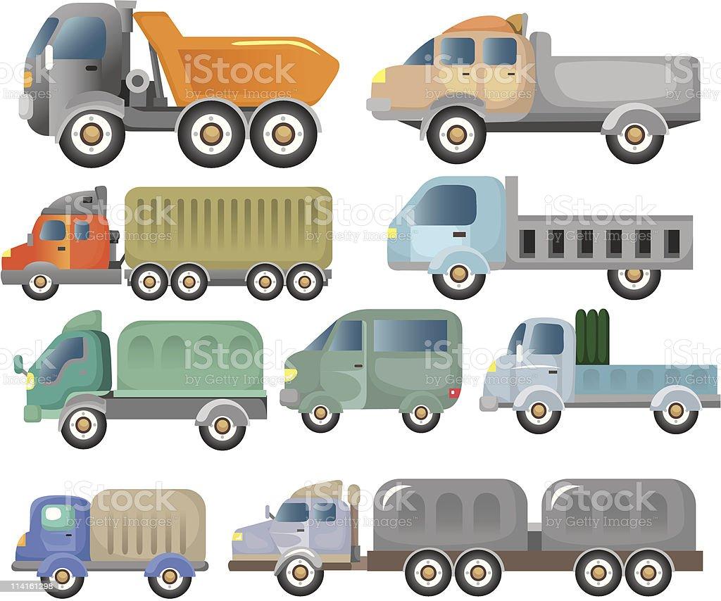 cartoon truck icon royalty-free stock vector art