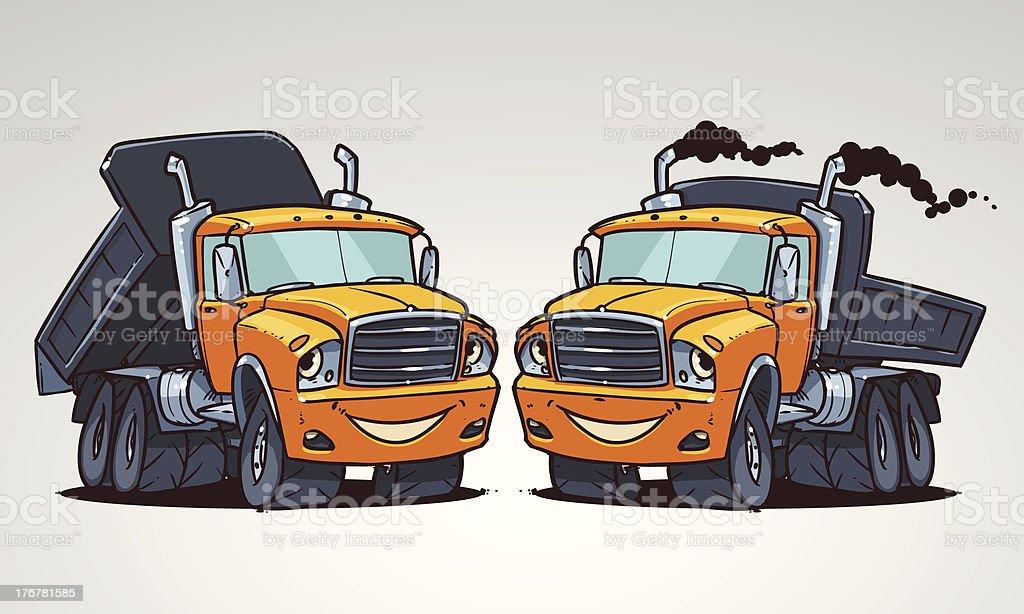 cartoon truck tipper royalty-free stock vector art