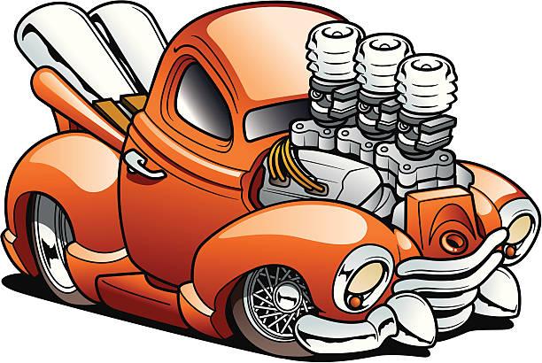 Cartoon Truck vector art illustration