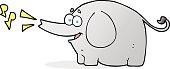 cartoon trumpeting elephant