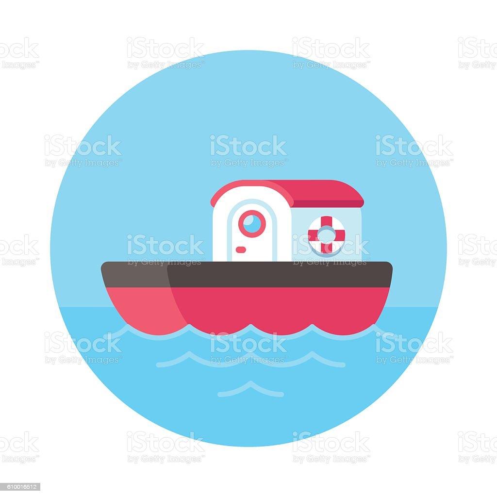 Cartoon tugboat illustration vector art illustration