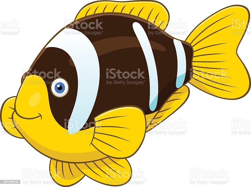 Cartoon two banded anemonefish Lizenzfreies cartoon two banded anemonefish stock vektor art und mehr bilder von comic - kunstwerk