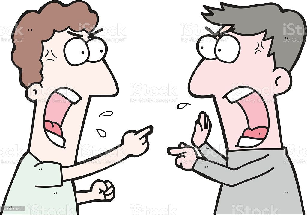 cartoon two people arguing stock vector art more images of adult rh istockphoto com couple arguing clipart argument clip art