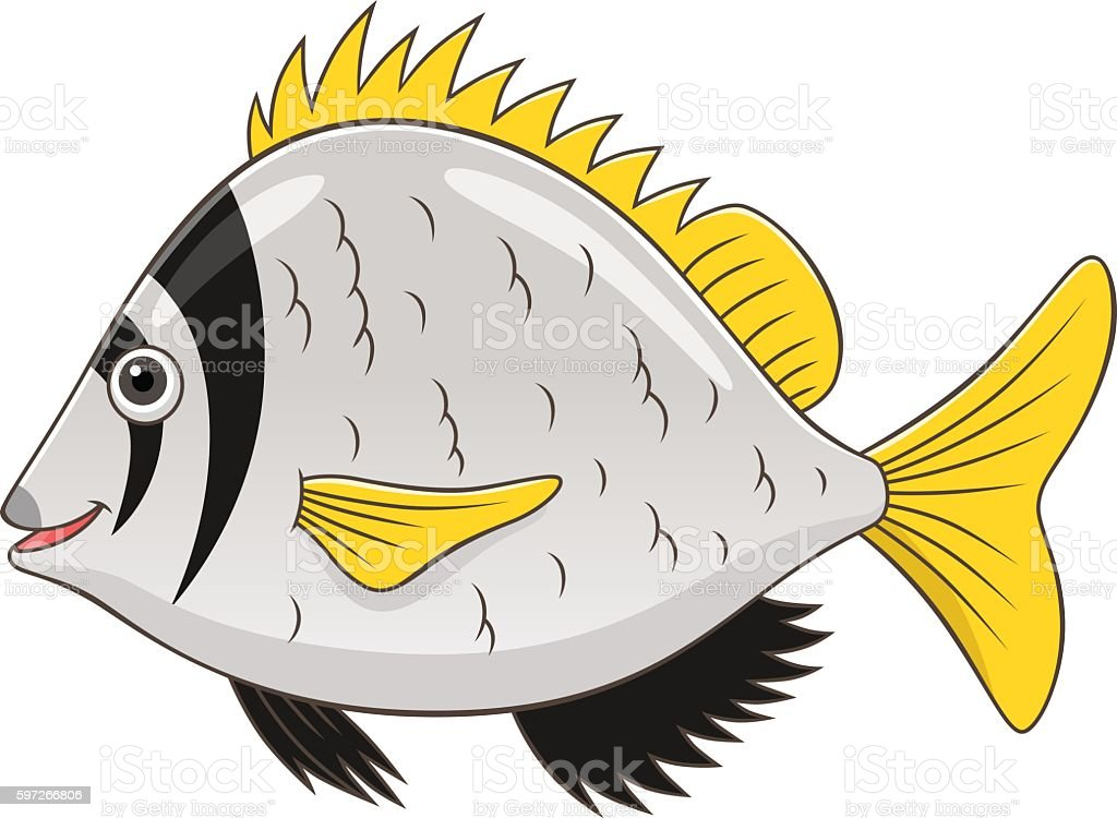 Cartoon twobar seabream royalty-free cartoon twobar seabream stock vector art & more images of animal