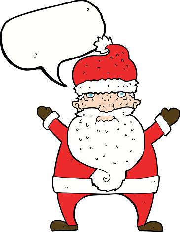 Babbo Natale Brutto.Fumetto Brutto Babbo Natale Con Il Fumetto Immagini Vettoriali Stock E Altre Immagini Di Allegro Istock