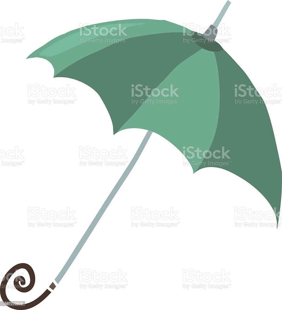 Cartoon umbrella flat icon. vector art illustration