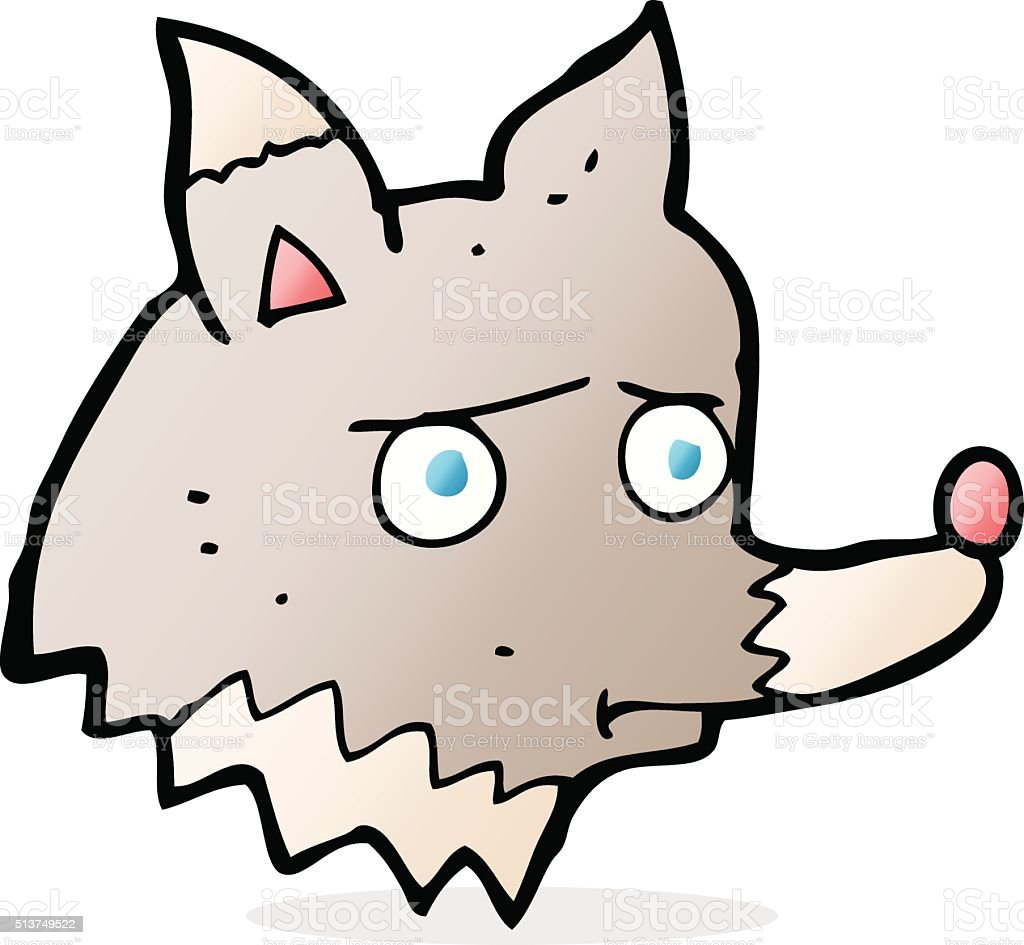 Drawing Of The Sad Wolf Clip Art, Vector Images U0026 Illustrations