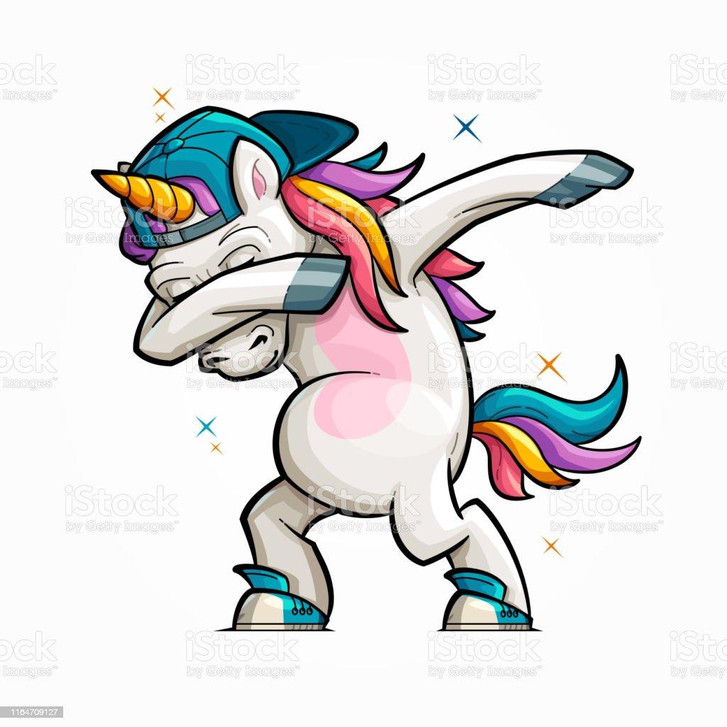 Cartoon Unicorn Dabbing Stock Illustration Download Image Now Istock