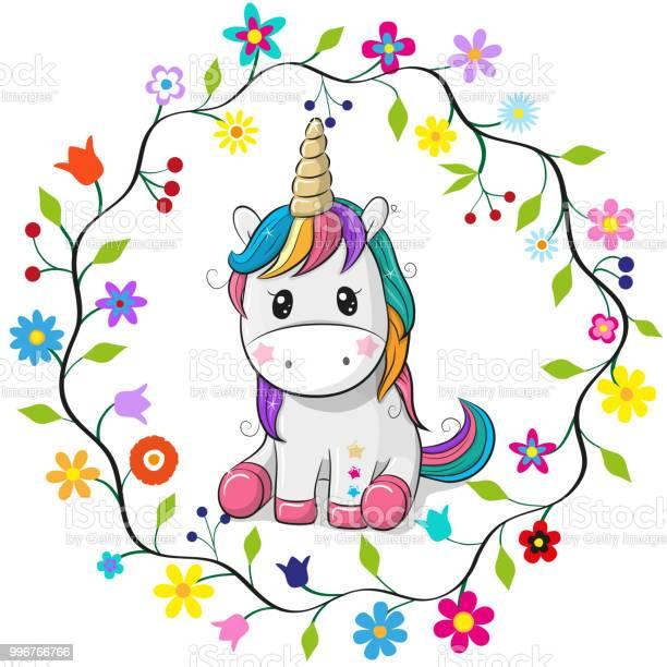 Cartoon unicorn in a flowers frame vector id996766766?b=1&k=6&m=996766766&s=612x612&h=ejqqaoruujae0wlbkj9jskr6hjika6tjsyciug0l498=