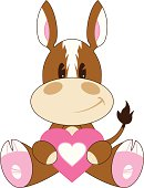 Cartoon Valentine Horse with Heart
