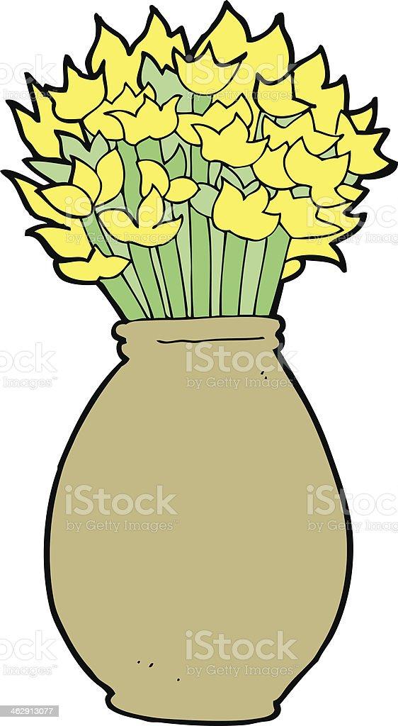 Dessin Representant Des Fleurs Dans Un Vase Cliparts Vectoriels Et