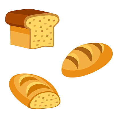Cartoon Vector Bread Loaf Icons Stock Illustration Download Image Now Istock