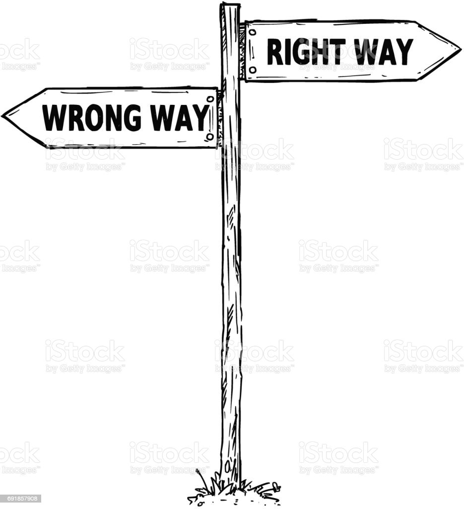 falscher weg