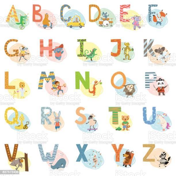 Cartoon vector hand drawn animals english language alphabet letters vector id837573406?b=1&k=6&m=837573406&s=612x612&h=bs3xmmyh5q0w yq13qhr iowxmf4jtcguz3az gss4c=