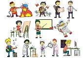 cartoon vector Human Career Set