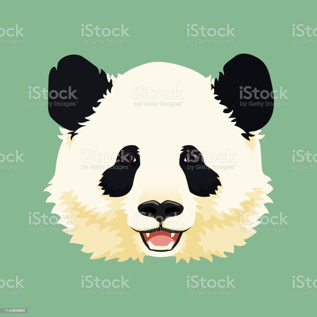 Illustration De Vecteur De Dessin Animé Visage De Panda