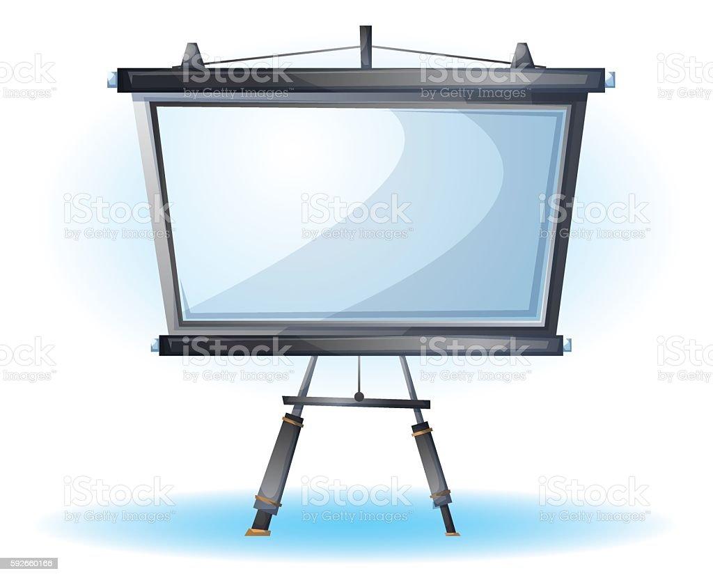 cartoon vector illustration interior office slide object vector art illustration