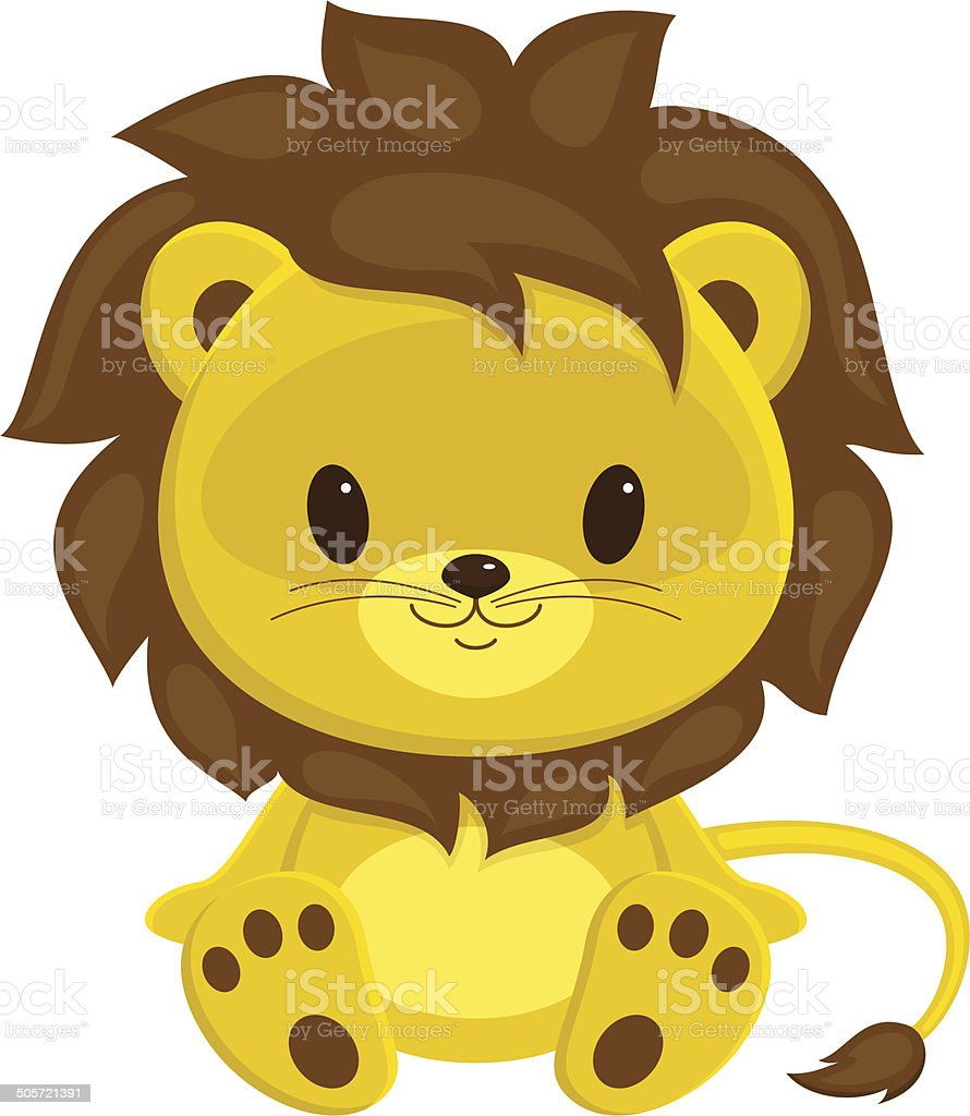 royalty free baby lion clip art vector images illustrations istock rh istockphoto com baby lion cub clipart cute baby lion clipart