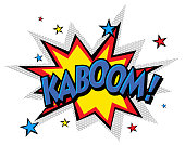 istock Cartoon Vector Kaboom 913043024