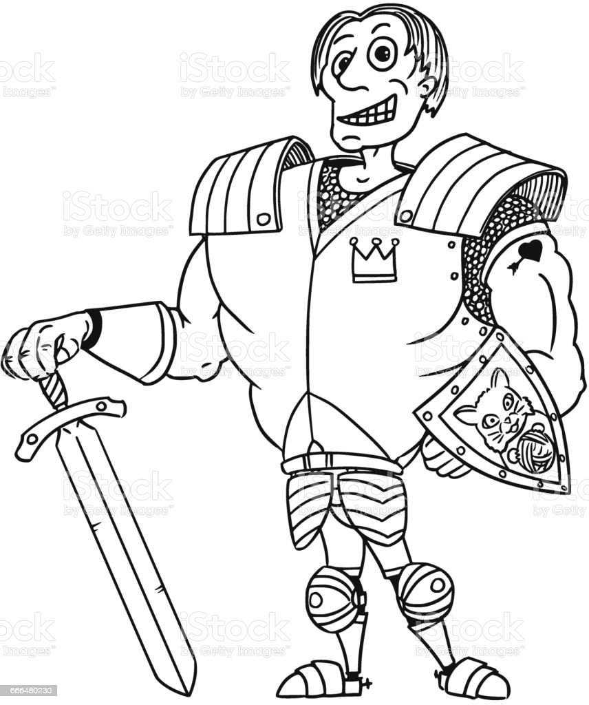 Dessin animé vecteur médiéval fantasy héros chevalier prince dessin animé vecteur médiéval fantasy héros chevalier prince