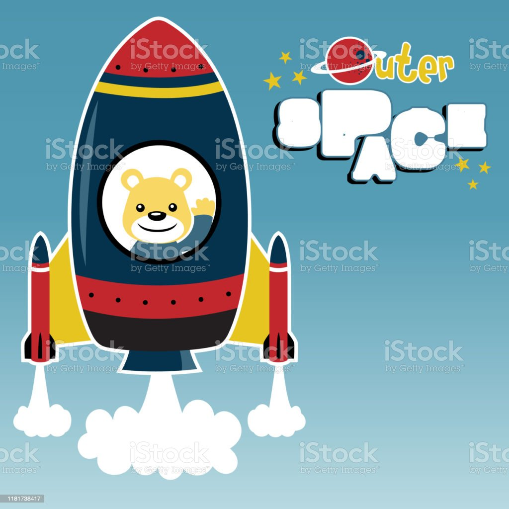 cartoon vector of a rocket blast off to space with cute bear stock illustration download image now istock https www istockphoto com vector cartoon vector of a rocket blast off to space with cute bear gm1181738417 331561812