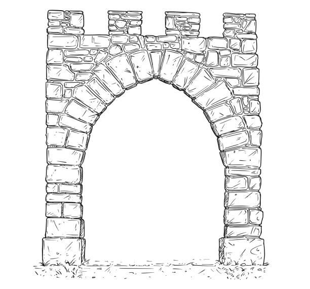 Best Castle Door Illustrations, Royalty-Free Vector