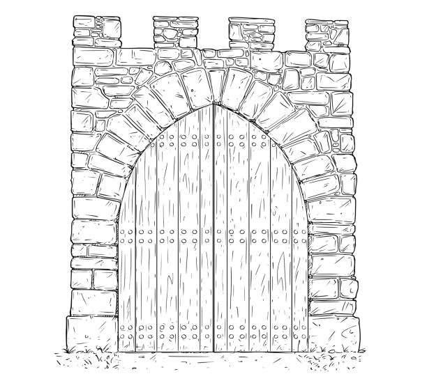 Top 60 Castle Gate Clip Art, Vector Graphics And