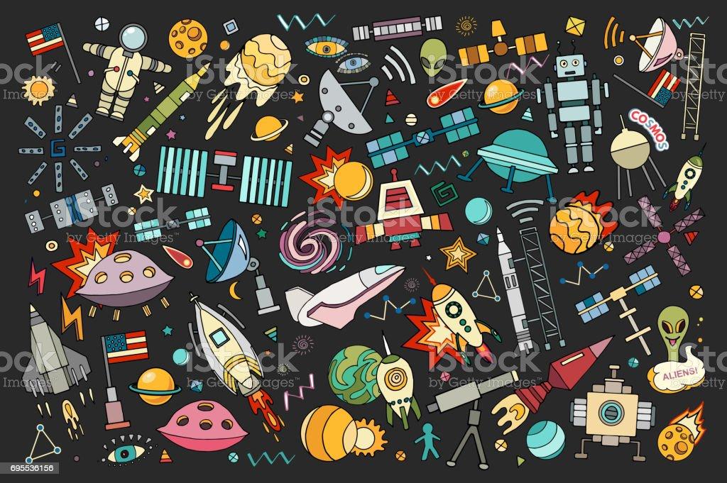 Espacio del vector de dibujos animados - ilustración de arte vectorial
